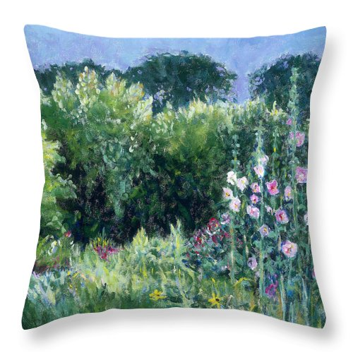 Monet Throw Pillow featuring the painting A Walk In The Garden by Tara Moorman