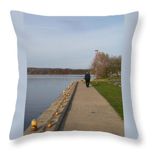 Throw Pillow featuring the photograph A Walk On The Wild Side - Photograph by Jackie Mueller-Jones