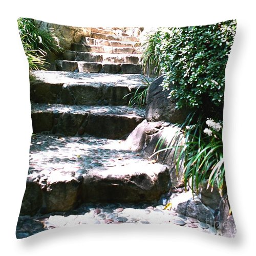 Stairs Throw Pillow featuring the photograph A Way Out by Dean Triolo