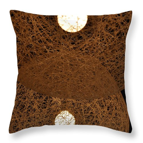Clay Throw Pillow featuring the photograph A Web Of Photons by Clayton Bruster