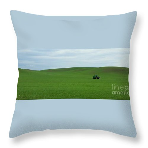 Rolling Hills Throw Pillow featuring the photograph A Well Earned Rest by Teresa A Lang