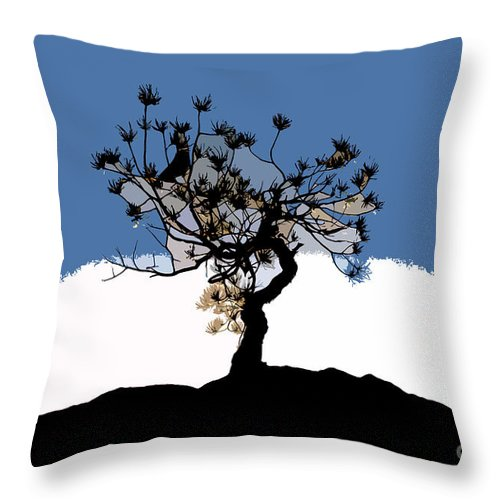 Tree Throw Pillow featuring the painting A Will To Live by David Lee Thompson