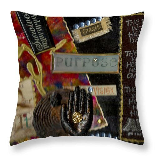 Journal Art Throw Pillow featuring the mixed media A Woman With Purpose by Angela L Walker
