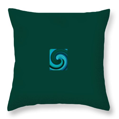 Continuious Throw Pillow featuring the digital art A77 by Andrew Johnson
