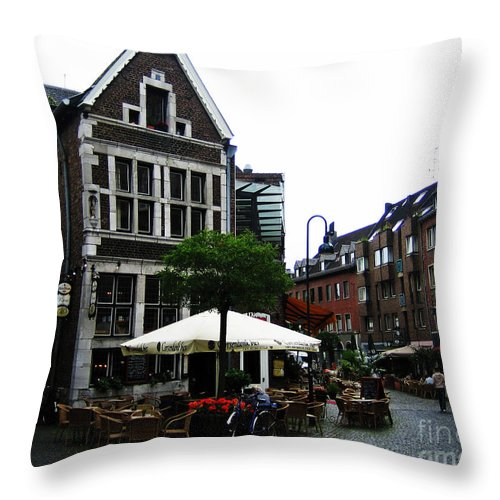 Buildings Throw Pillow featuring the photograph Aachen by Jeff Barrett