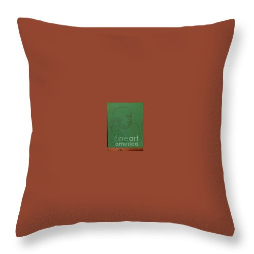 Throw Pillow featuring the painting aah by Dutch MARCHING