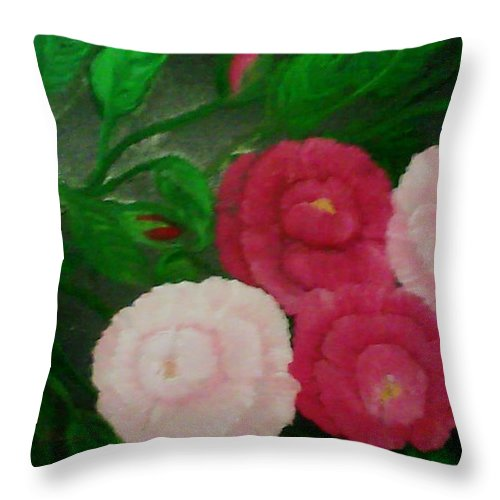 Oil Throw Pillow featuring the painting Aaron's Kindness by Diana Robbins