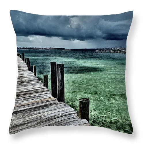 Caribbean Throw Pillow featuring the photograph Abaco Islands, Bahamas by Cindy Ross