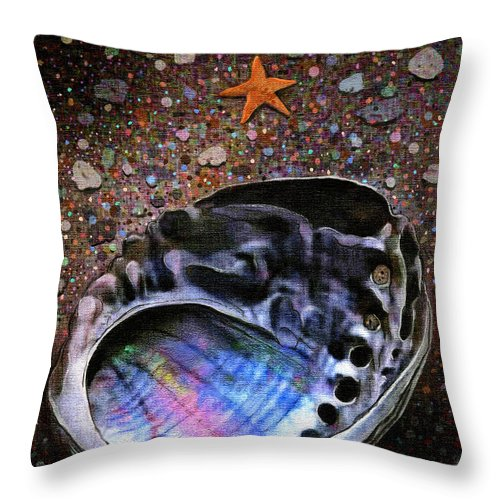 Seascape Throw Pillow featuring the painting Abalone by Robert Foster