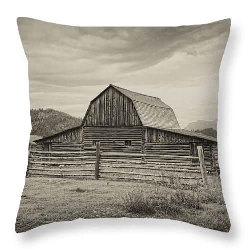 Antelope Throw Pillow featuring the photograph Abandoned Barn by Hugh Smith
