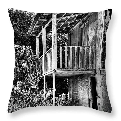 Amazing Throw Pillow featuring the photograph Abandoned, Kalamaki, Zakynthos by John Edwards