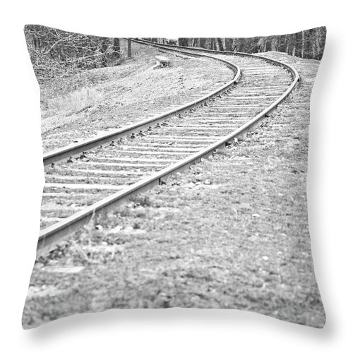 Railway Throw Pillow featuring the photograph Abandoned Railway by Gabriela Insuratelu