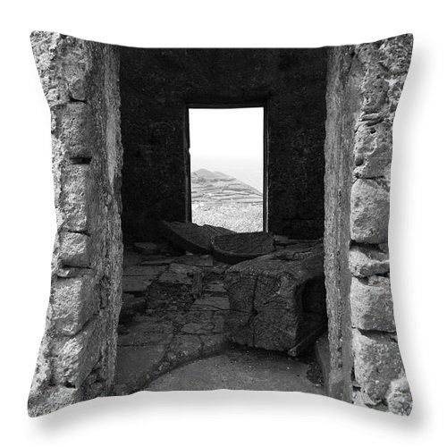 Abandoned Throw Pillow featuring the photograph Abandoned Windmill by Gaspar Avila