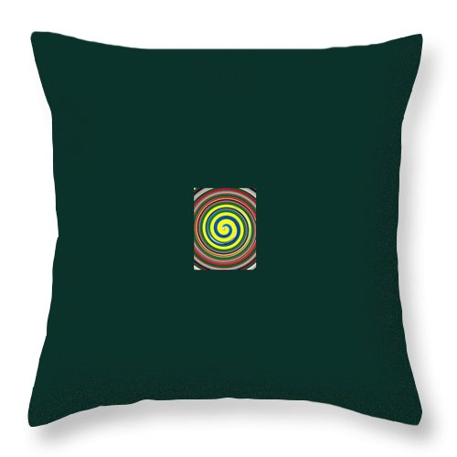 Digital Spiral Throw Pillow featuring the painting Abb1 by Andrew Johnson