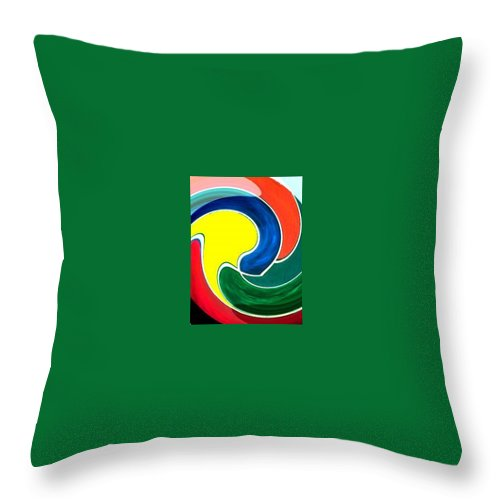 Digitalized Throw Pillow featuring the digital art Abbs by Andrew Johnson