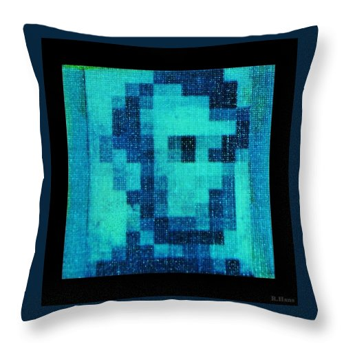 Blue Throw Pillow featuring the photograph Abe In Aqua by Rob Hans