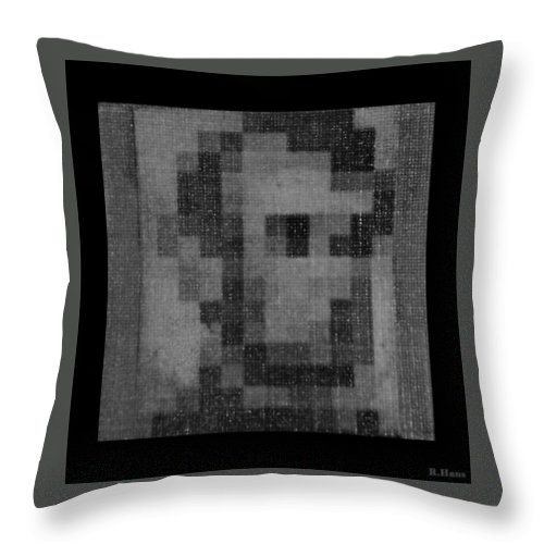Black And White Throw Pillow featuring the photograph Abe In Black And White by Rob Hans