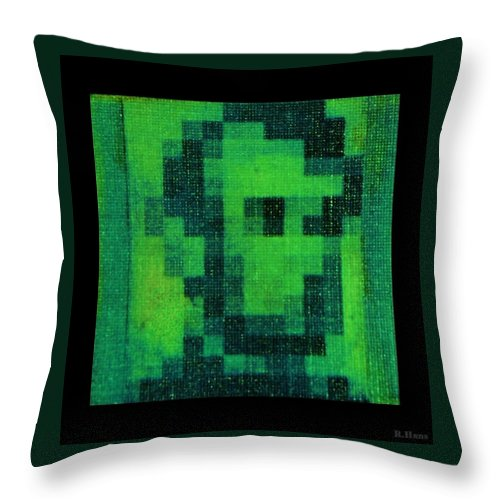 Green Throw Pillow featuring the photograph Abe In Green by Rob Hans