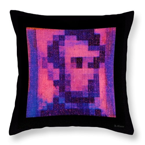 Pink Throw Pillow featuring the photograph Abe In Hot Pink by Rob Hans