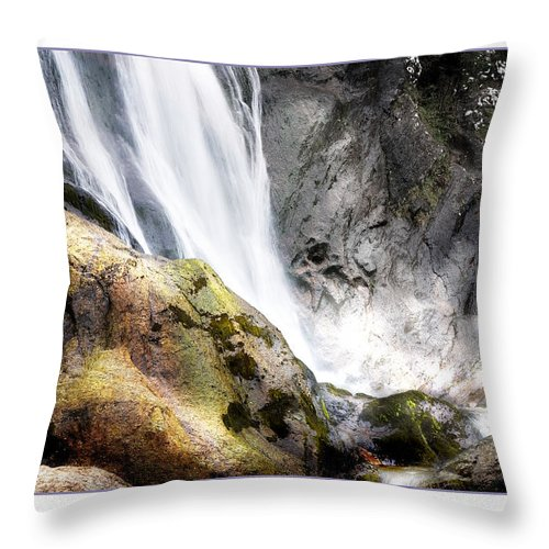 Aber Throw Pillow featuring the photograph Aber Falls by Mal Bray