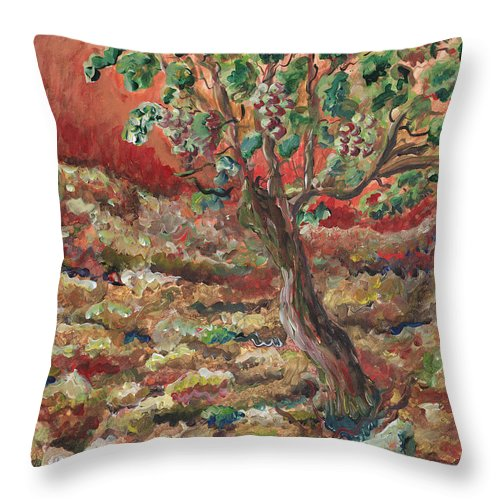 Abide Throw Pillow featuring the painting Abide by Nadine Rippelmeyer