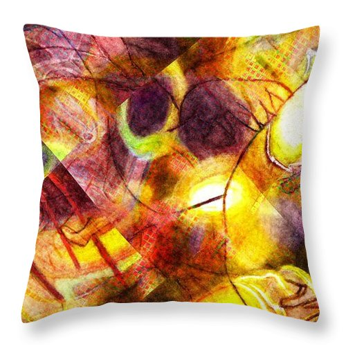 Throw Pillow featuring the digital art Above And Beyond Scramble by Jeffrey Todd Moore