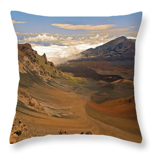 Clouds Throw Pillow featuring the photograph Above The Clouds by Robert Pilkington