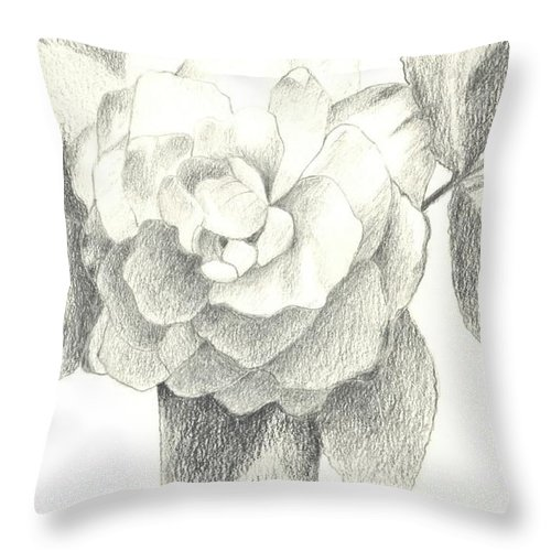 Rose Throw Pillow featuring the drawing Abracadabra by Helena Tiainen