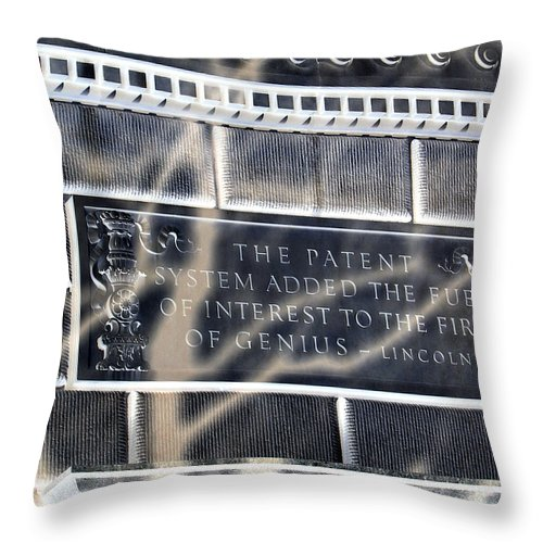 Abraham Throw Pillow featuring the photograph Abraham Was A Smart Man by Angelina Vick