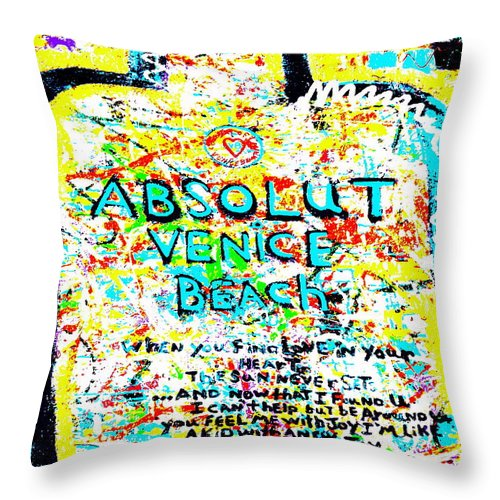 Venice Throw Pillow featuring the photograph Absolut Venice Beach by Funkpix Photo Hunter