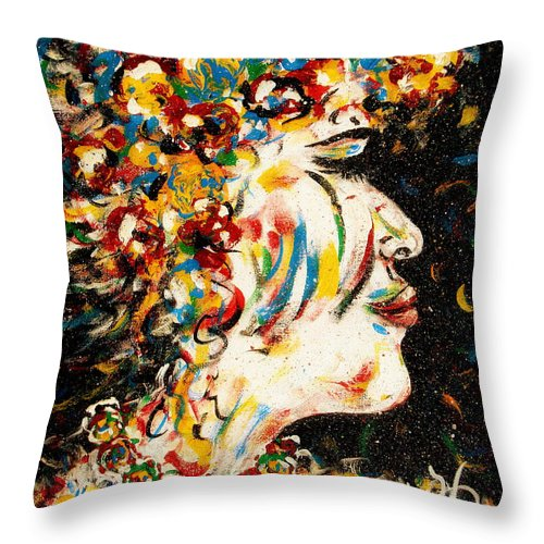 Woman Throw Pillow featuring the painting Absolutely Not by Natalie Holland