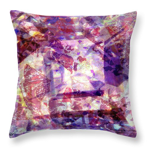 Abstract Throw Pillow featuring the digital art Abstacked by Seth Weaver
