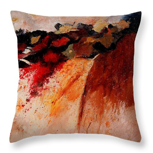 Abstract Throw Pillow featuring the painting Abstract 010607 by Pol Ledent