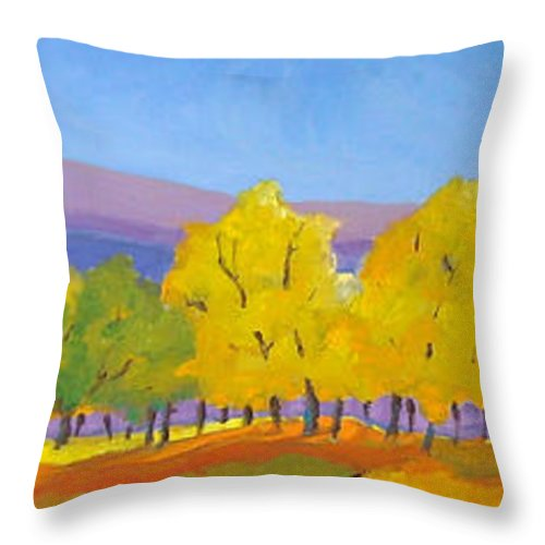 Abstract Throw Pillow featuring the painting Abstract 02 by Richard T Pranke