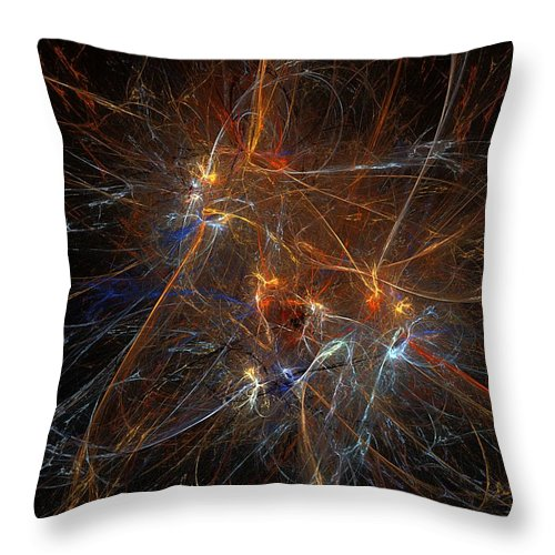 Pollock Throw Pillow featuring the digital art Abstract 022311 by David Lane