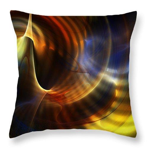 Fine Art Throw Pillow featuring the digital art Abstract 040511 by David Lane