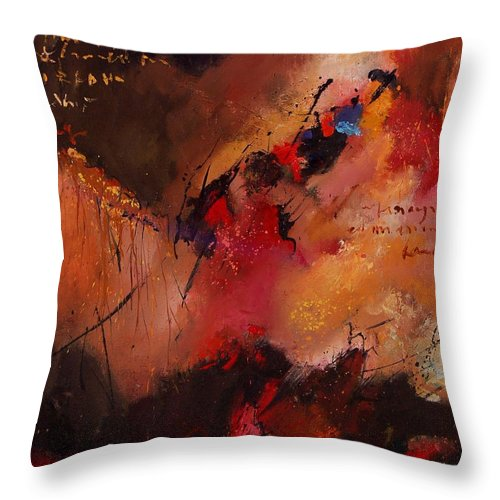 Abstract Throw Pillow featuring the painting Abstract 0408 by Pol Ledent