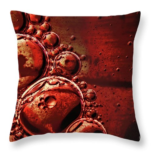 Shiny Throw Pillow featuring the photograph Abstract 0423c by Howard Roberts