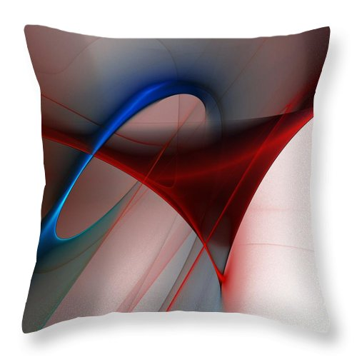 Digital Painting Throw Pillow featuring the digital art Abstract 052510 by David Lane