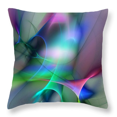 Digital Painting Throw Pillow featuring the digital art Abstract 053010 by David Lane