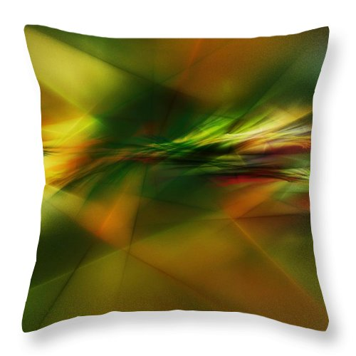 Digital Painting Throw Pillow featuring the digital art Abstract 060210 by David Lane