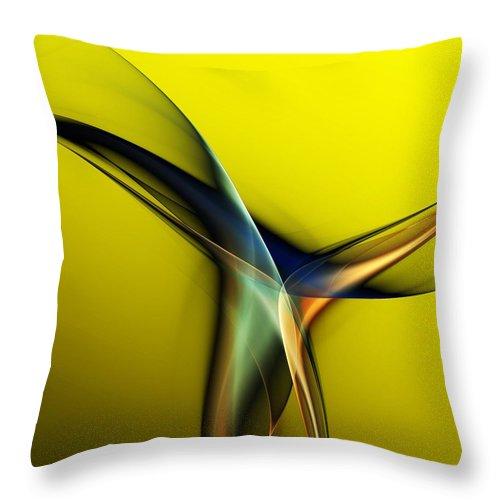 Fine Art Throw Pillow featuring the digital art Abstract 060311 by David Lane