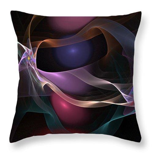 Fine Art Throw Pillow featuring the digital art Abstract 062310 by David Lane