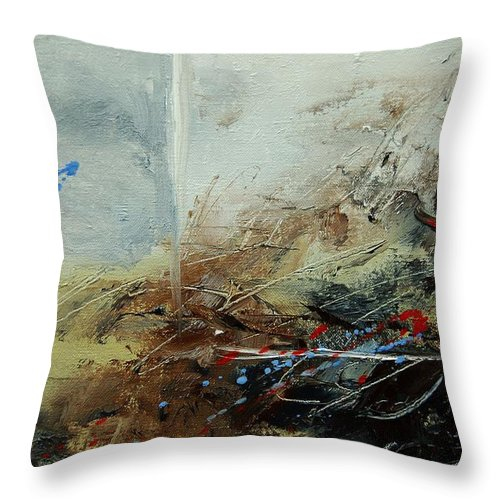 Abstract Throw Pillow featuring the print Abstract 070408 by Pol Ledent