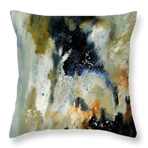 Abstarct Throw Pillow featuring the painting Abstract 070808 by Pol Ledent