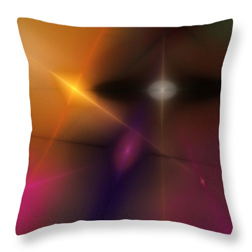 Abstract Throw Pillow featuring the digital art Abstract 071710 by David Lane