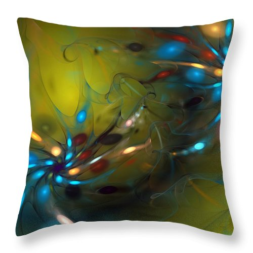Fractal Throw Pillow featuring the digital art Abstract 071910 by David Lane
