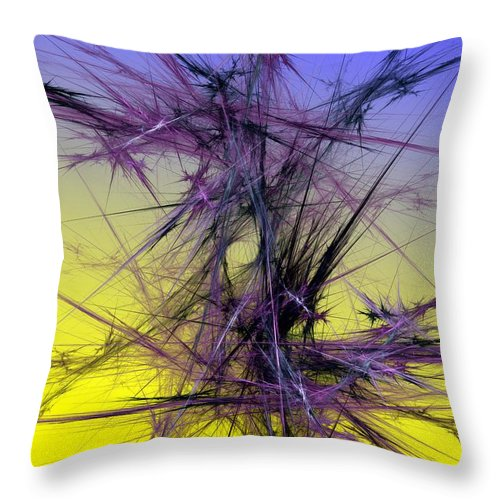 Abstract Digital Painting Throw Pillow featuring the digital art Abstract 10-08-09 by David Lane