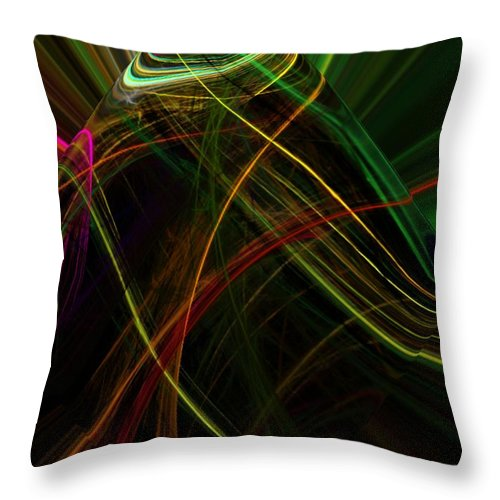 Abstract Digital Painting Throw Pillow featuring the digital art Abstract 10-16-09 by David Lane