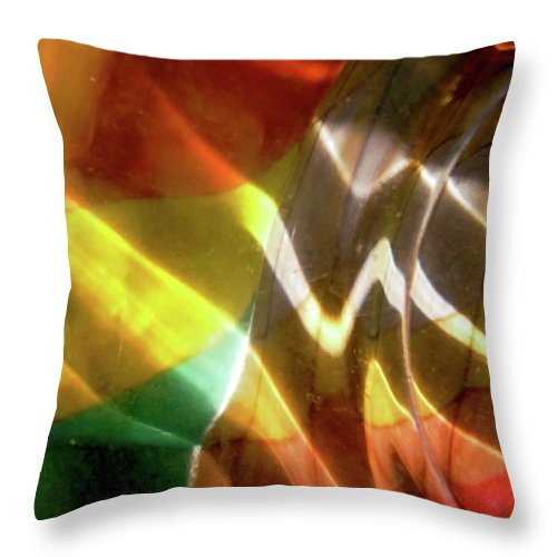 Abstract Shapes Throw Pillow featuring the photograph Abstract 1015 by Stephanie Moore